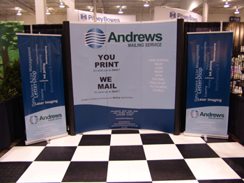 Andrews Mailing Tradeshow Booth
