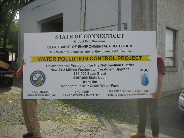Construction Site Sign with Seal and Logo, 4 ft x 8 ft