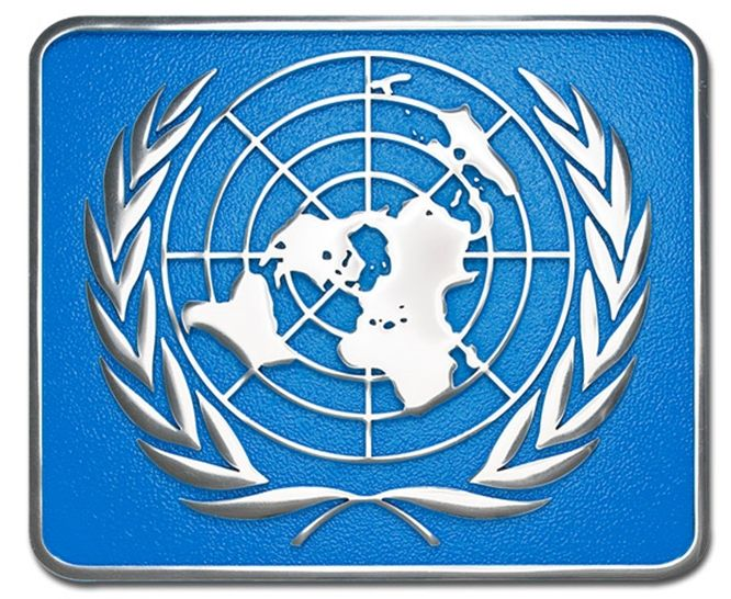 MH9080 - Cast United Nations Plaque, 3-D