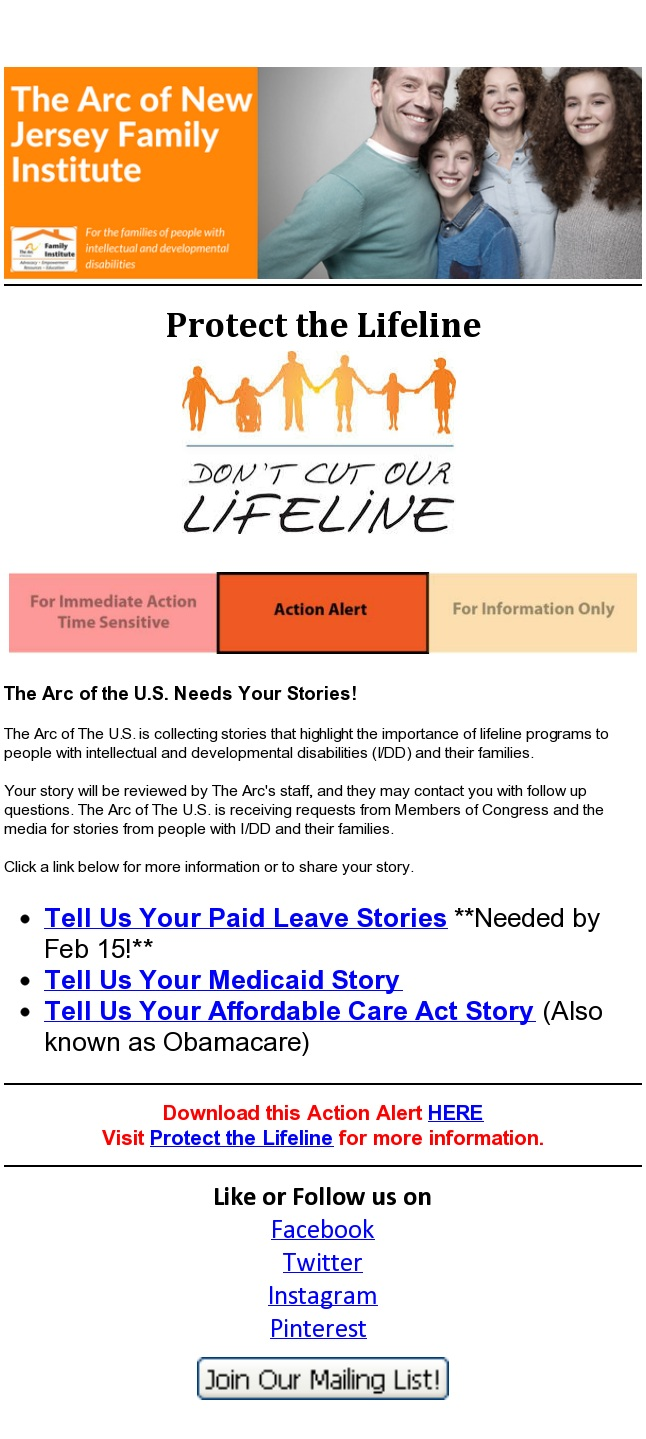 Tell Us Your Medicaid-ACA-SSI Stories  2.9.2017