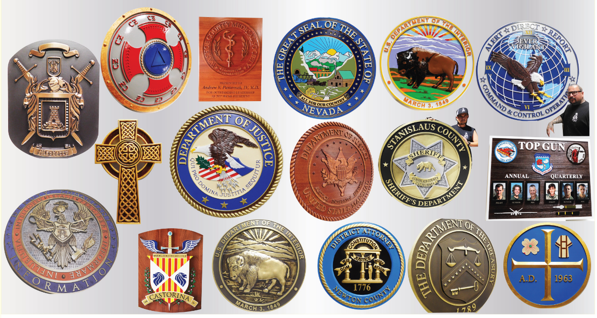 Recent Plaques we have designed and fabricated