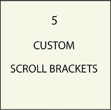 Custom Curved Ornate Scroll Brackets