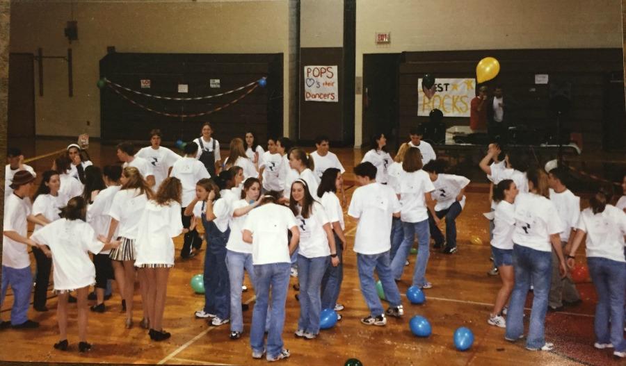 Teens host a dance marathon to raise awareness for domestic violence.