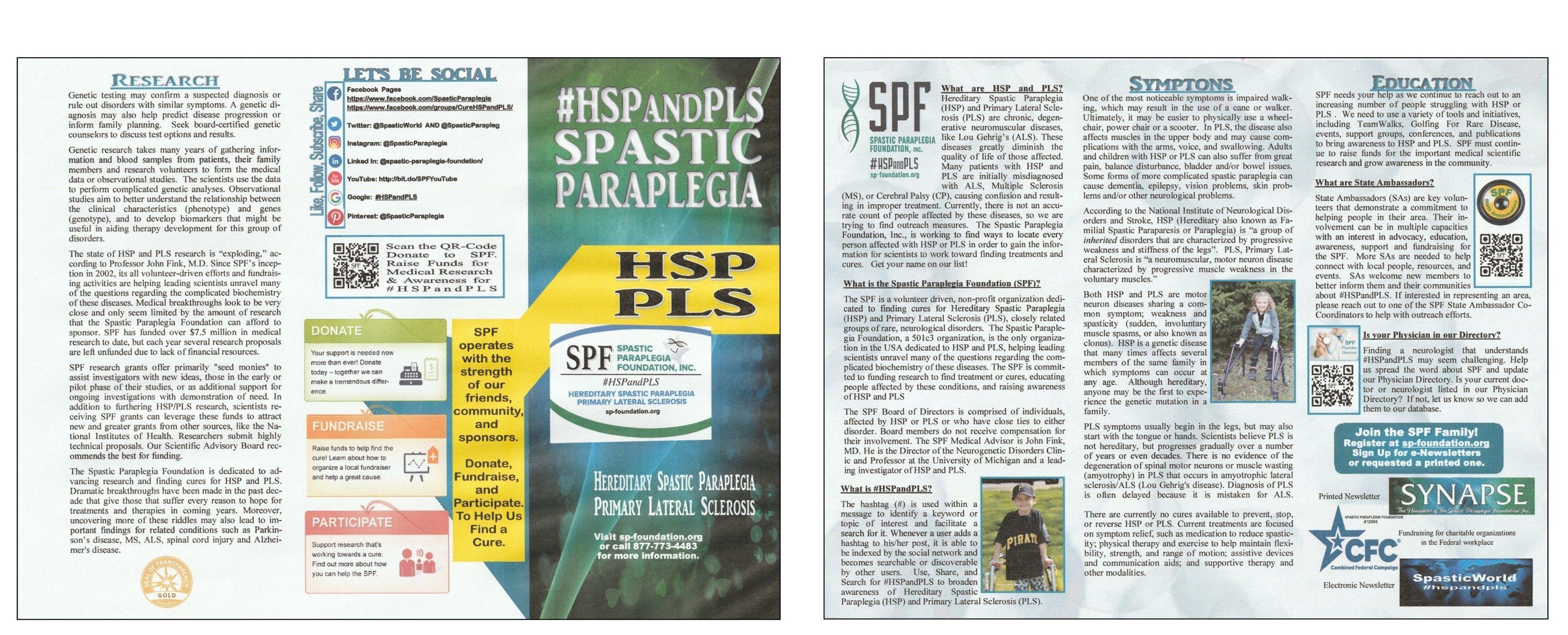 Spastic Paraplegia Foundation Brochure