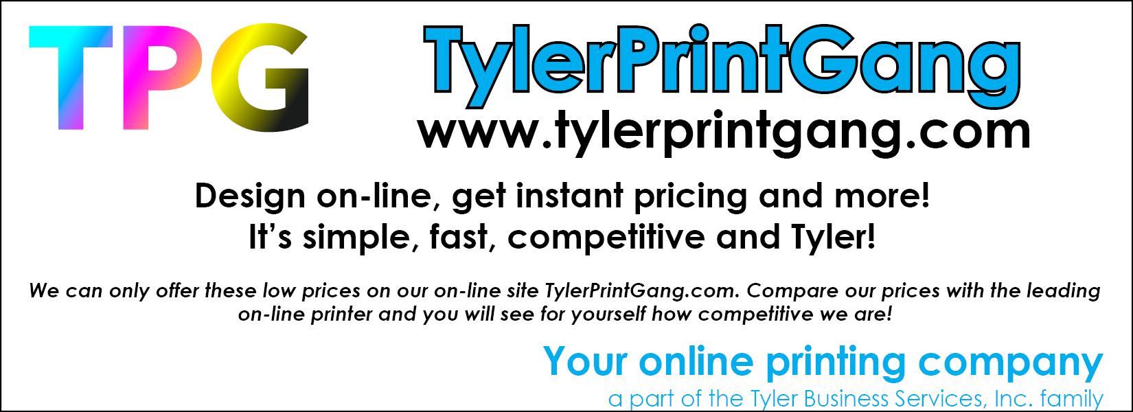 Tyler Print Gang is LIVE!