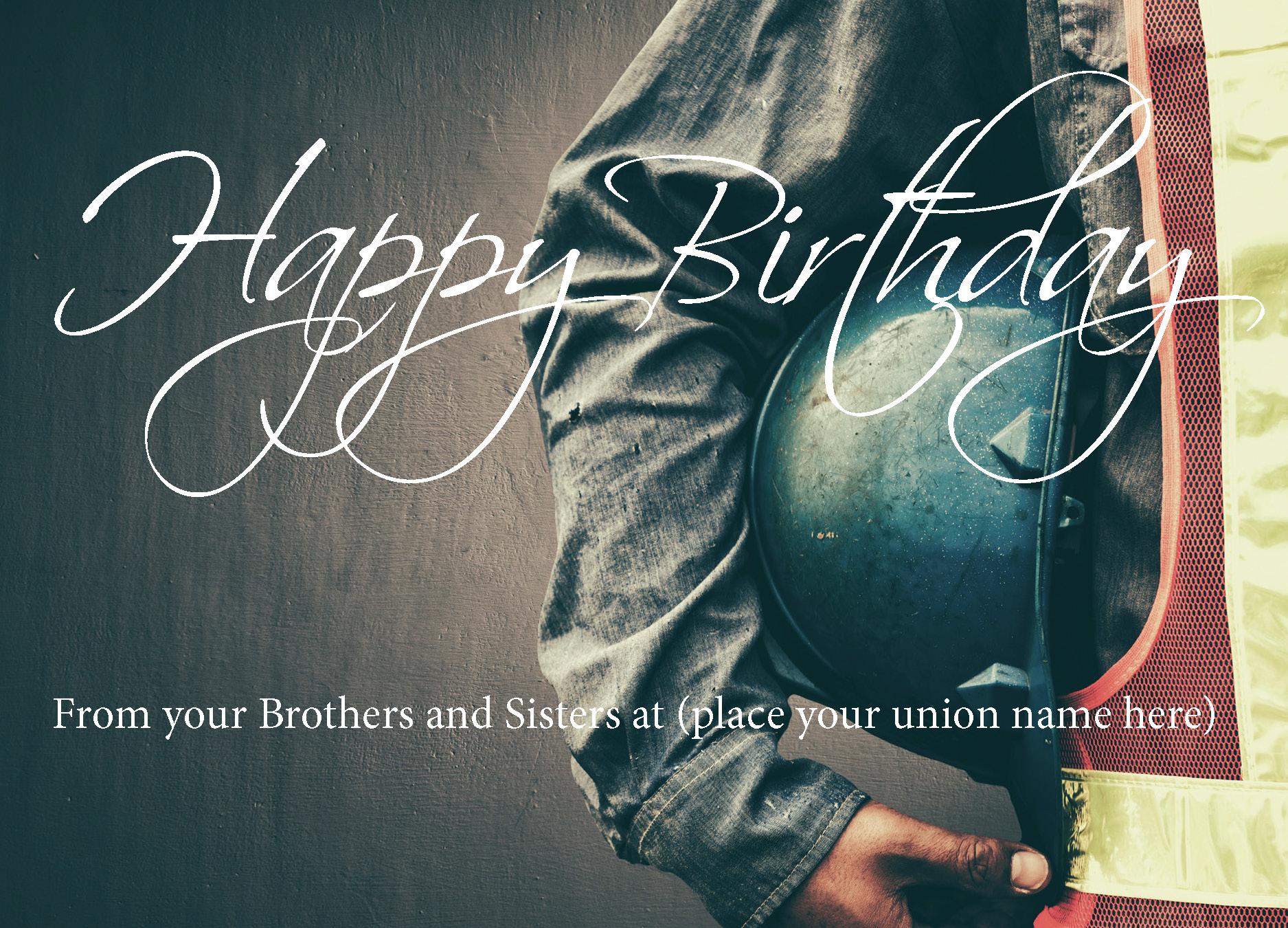 Union Made Birthday Cards
