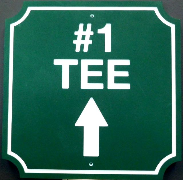 E14234 - Engraved HDPE Tee Directional Sign