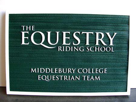 P25051 - Equestrian Riding School Sandblasted HDU Sign