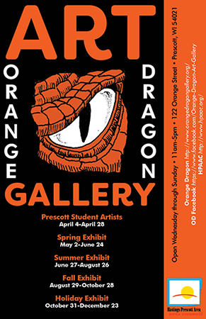 Orange Dragon Art Gallery Poster