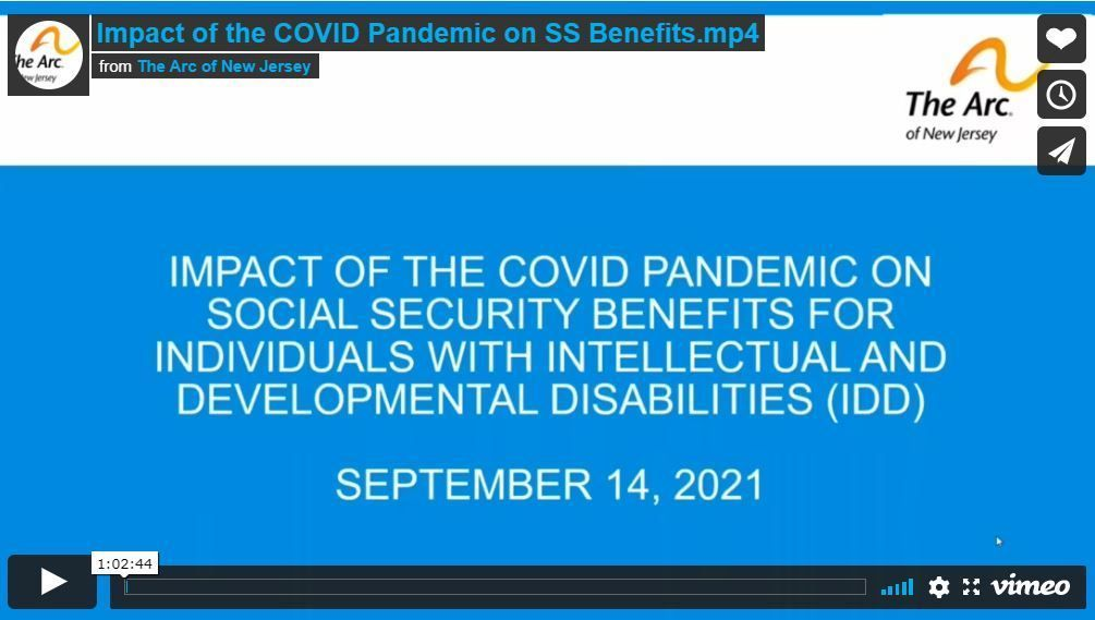 The Impact of the COVID pandemic on Social Security benefits for persons with IDD