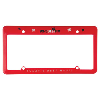 Promotional Products - 4 hole straight top license plate frame ...