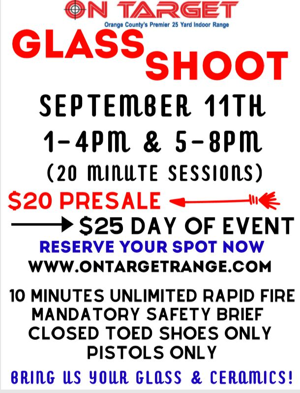On Target Glass Shoot