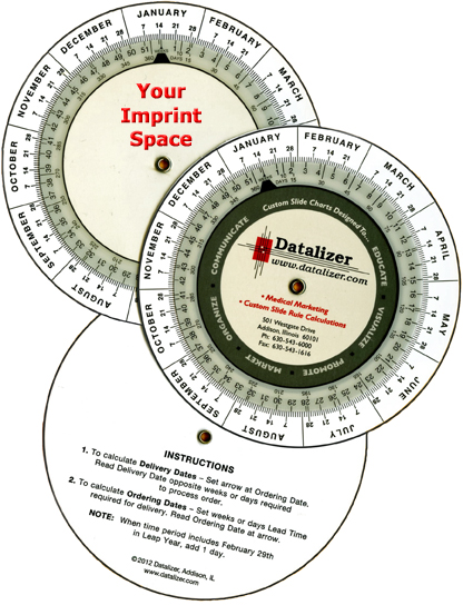 Small Plastic Date Calculator by Datalizer