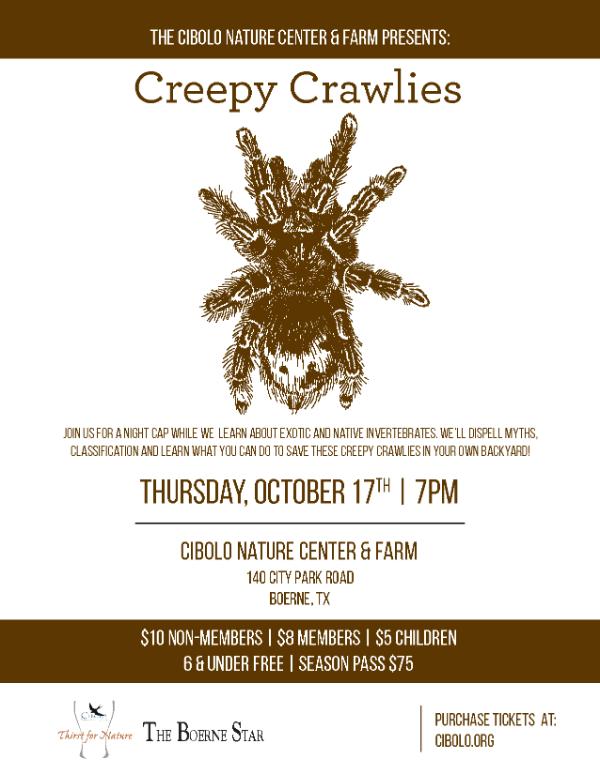 CNC: a Thirst for Nature event -Creepy Crawlies
