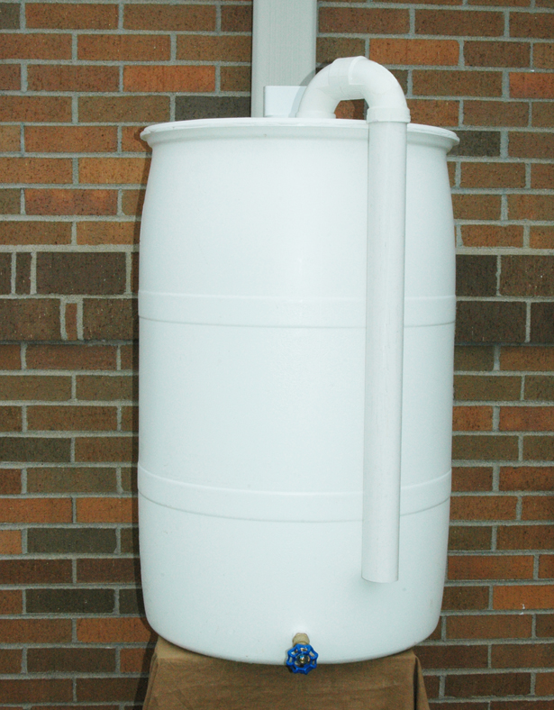 55 Gallon Plumbed Rainbarrel