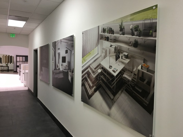 Product showroom wall murals and graphics in Anaheim CA