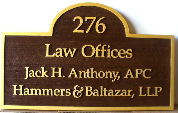 Attorney Law Office And Courtroom Carved Wood Signs