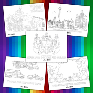 Kids Large Colouring Sheets