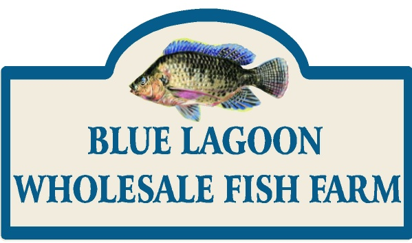 SA28650 - Sign for Wholesale Fish Farm with Full Color Painting of Fish
