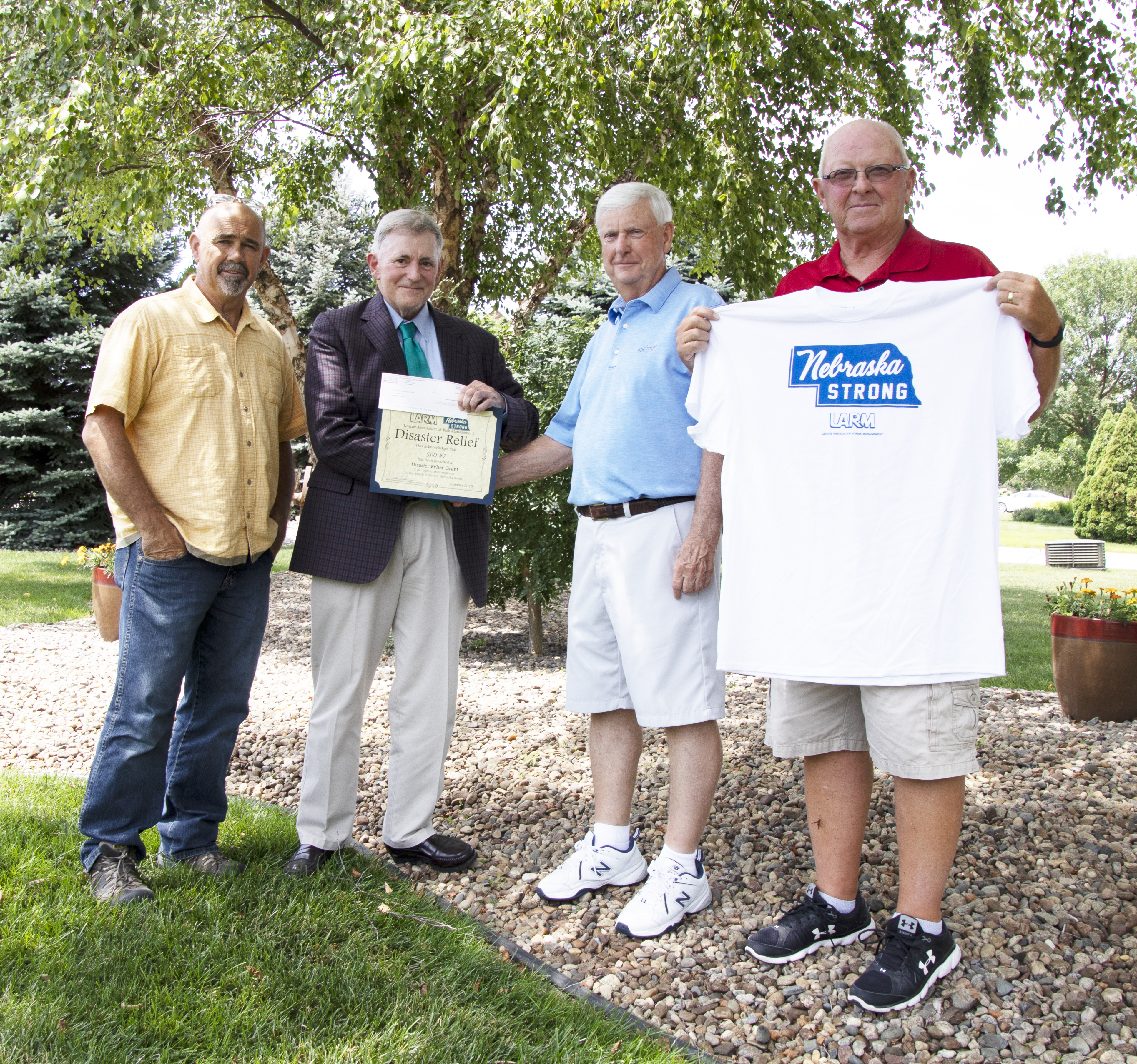 Sanitary Improvement District #7 receives Disaster Relief