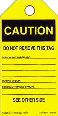 Caution-Do Not Remove This Tag