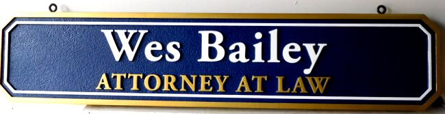 A10344 - Carved Attorney-At-Law Name Hanging Rider Sign