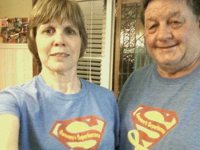 Sammy's buddy, Grady's grandparents- Clark Superheroes from Gothenburg, NE! Thank you for your support Clark's!