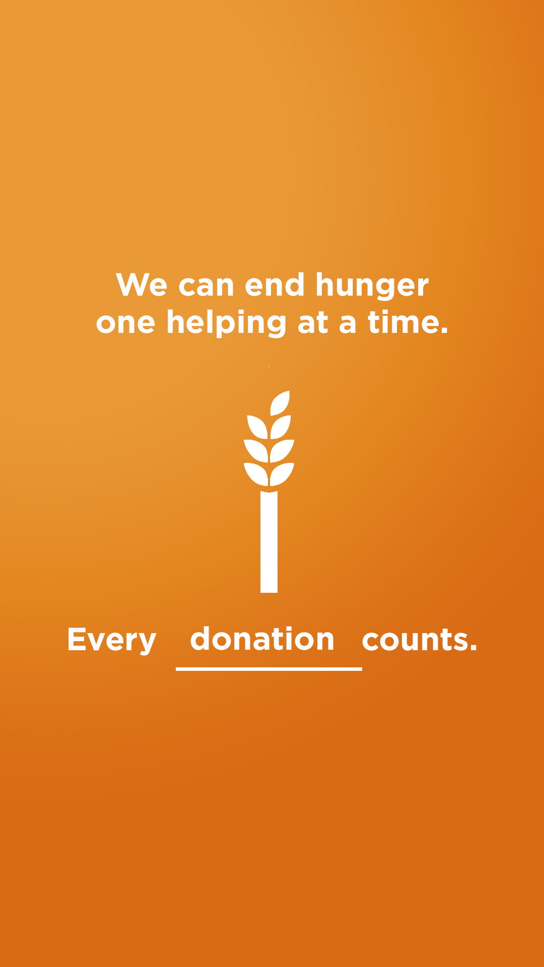 We can end hunger - Donate