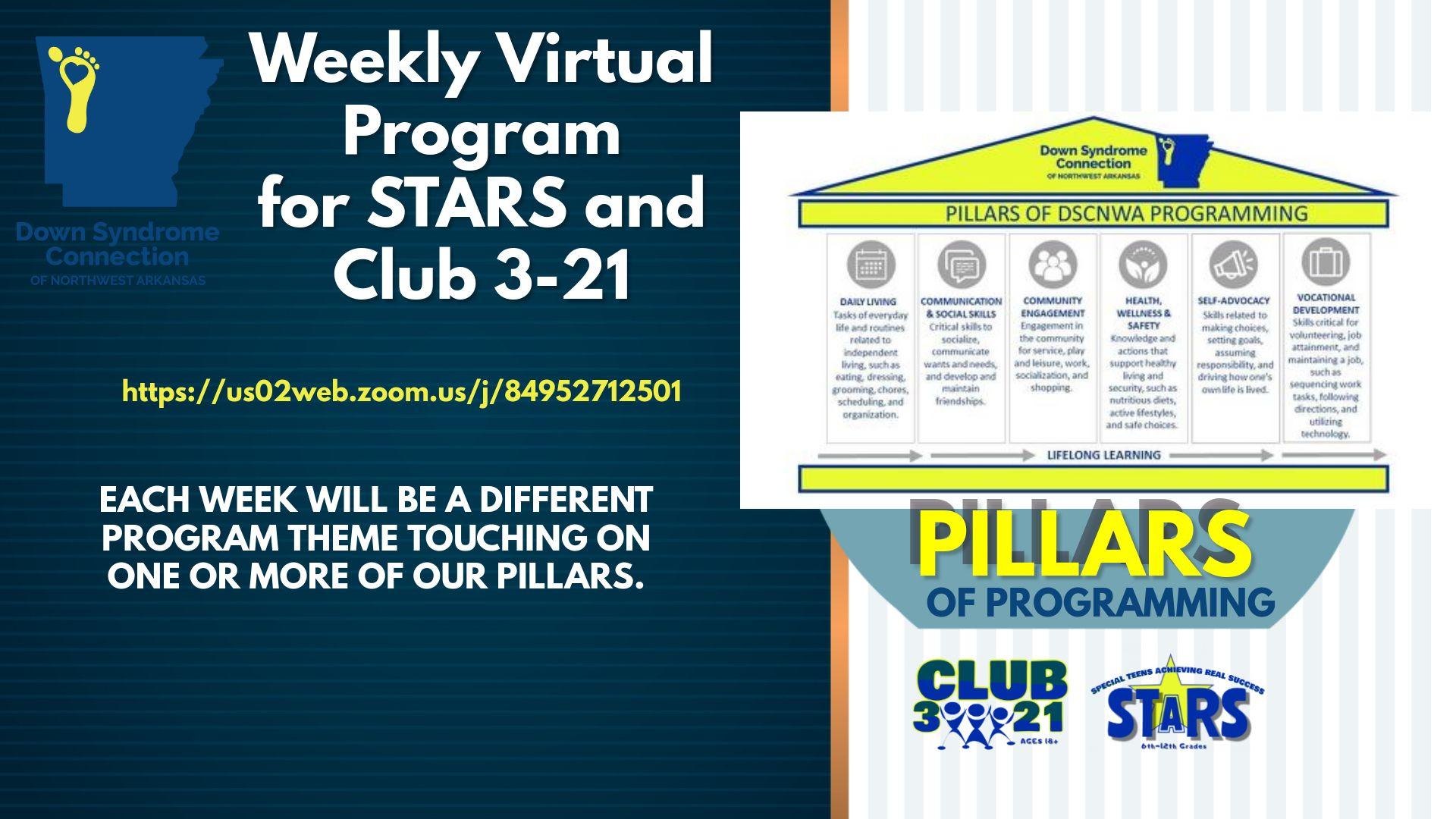 DSCNWA Weekly Virtual Program for STARS and Club 3-21