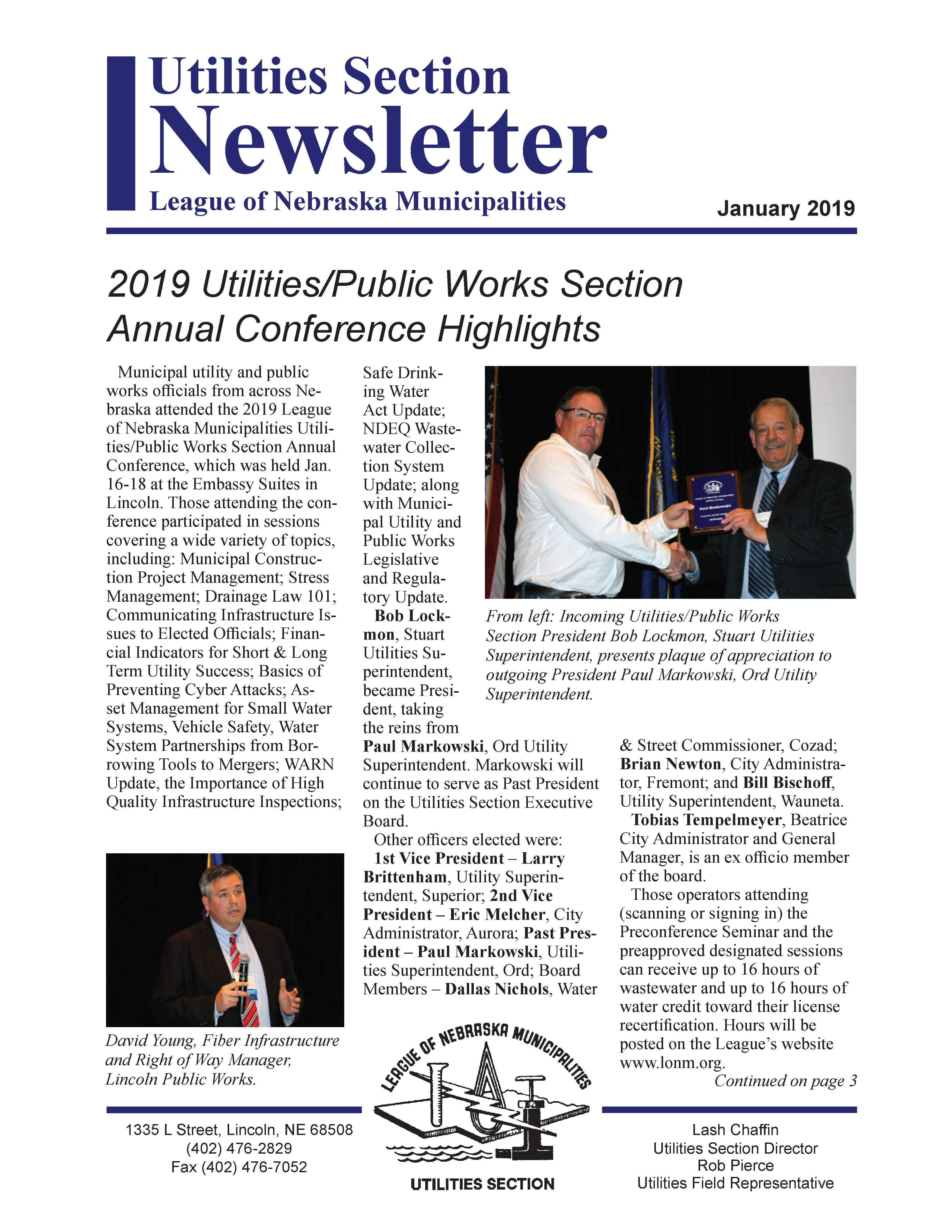 Utilities Section Newsletter