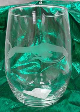 Sioux Horse Effigy 20.5 oz Stemless Wine Glass