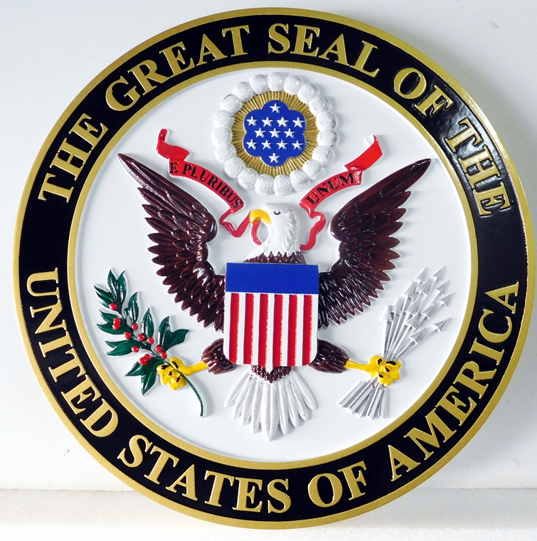 EA--3010 - Great Seal of the United States on Sintra Board