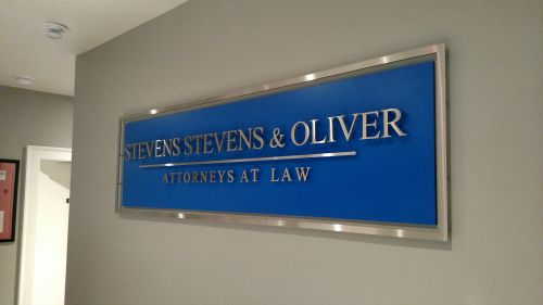 Stainless Steel Letters on Acrylic Backer