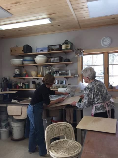 Colorful Clay Plate Class with Tina Doorn 2017