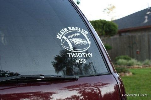 White Vinyl Decal