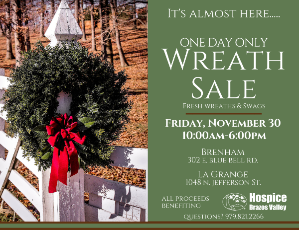 One Day Wreath Sale - La Grange