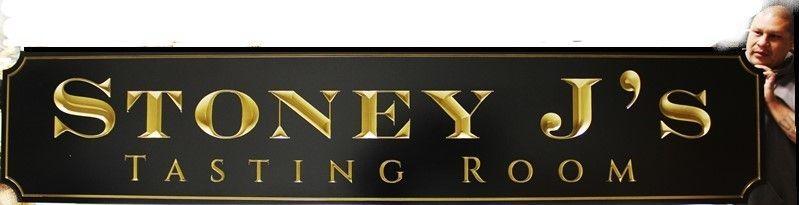 R27014 -  Engraved V- Carved HDU Tasting Room  with 24K Gold Leaf Gilded Letters