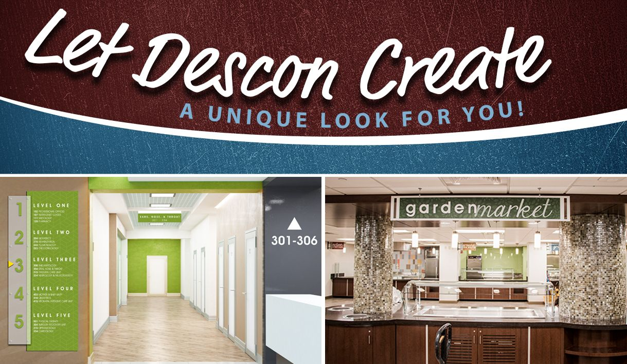 Custom signs and graphics display at hospitals, directional signage, signage company