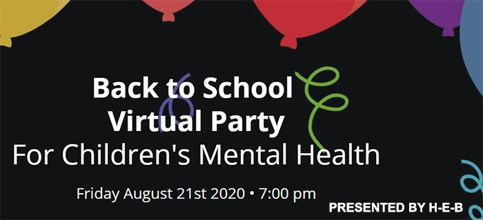 Back to School Virtual Party For Children's Mental Health