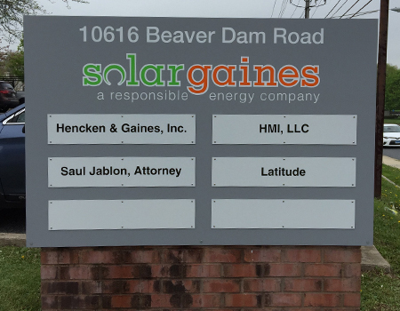 Solar Gaines monument sign