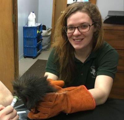 Liz Quandt, Assistant Wildlife Rehabilitator
