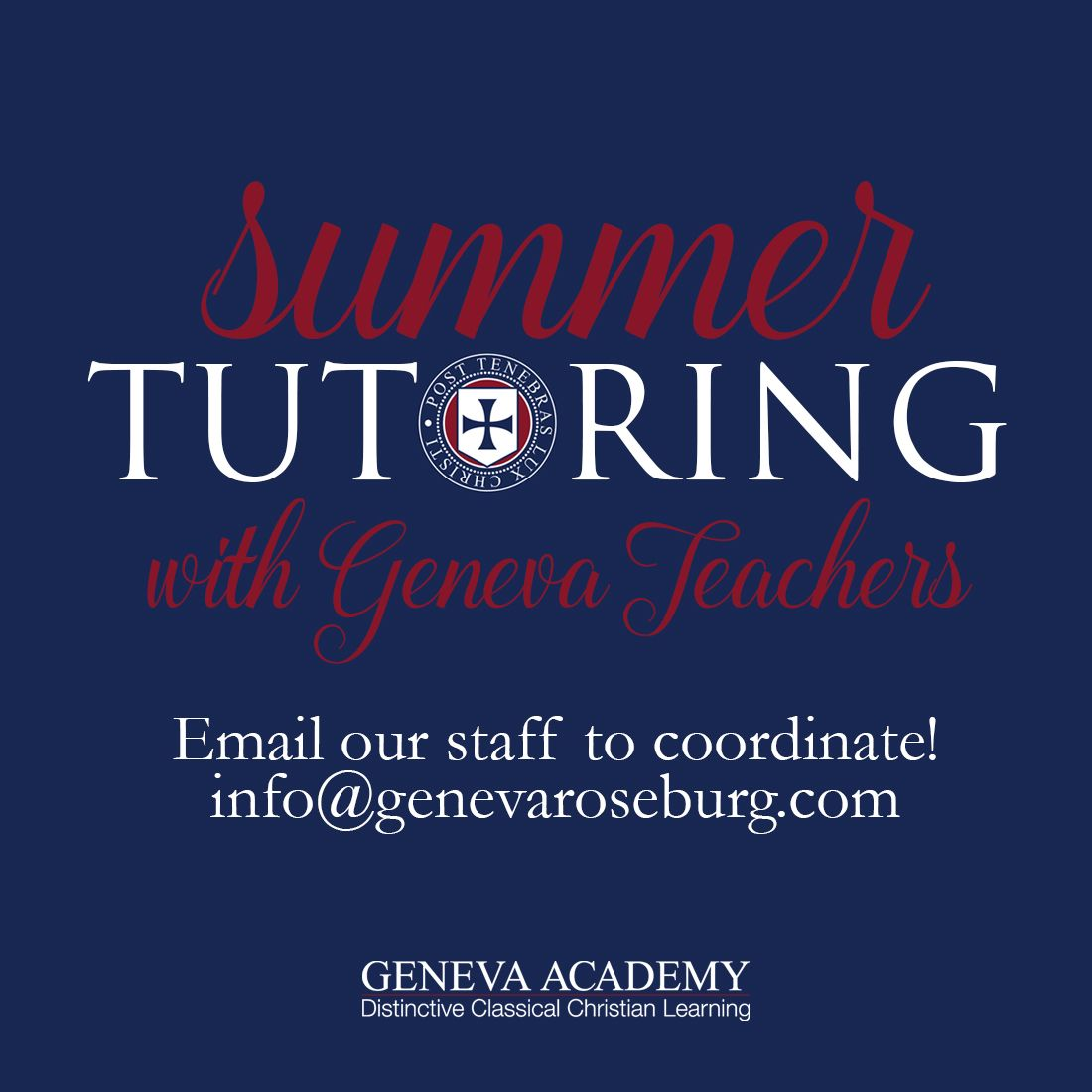 Summer Tutoring Available