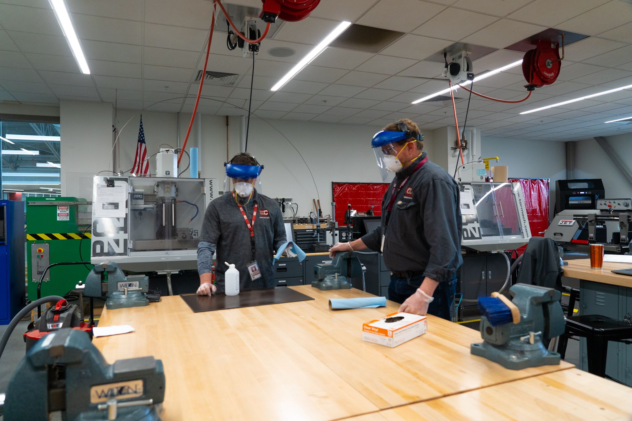 Advanced Manufacturing teachers, students produce protective equipment for healthcare workers