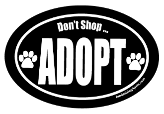 Don't shop adopt - oval
