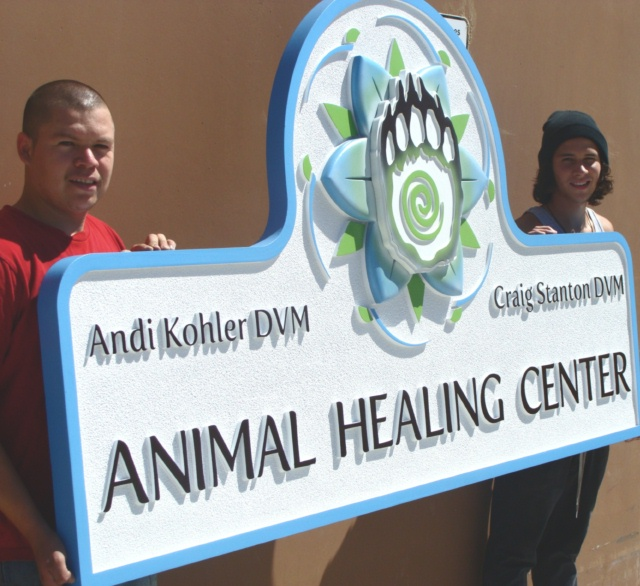 M2050 - 3D Veterinary and Animal Hospital Sign with Dog's Paw (Gallery 11B)