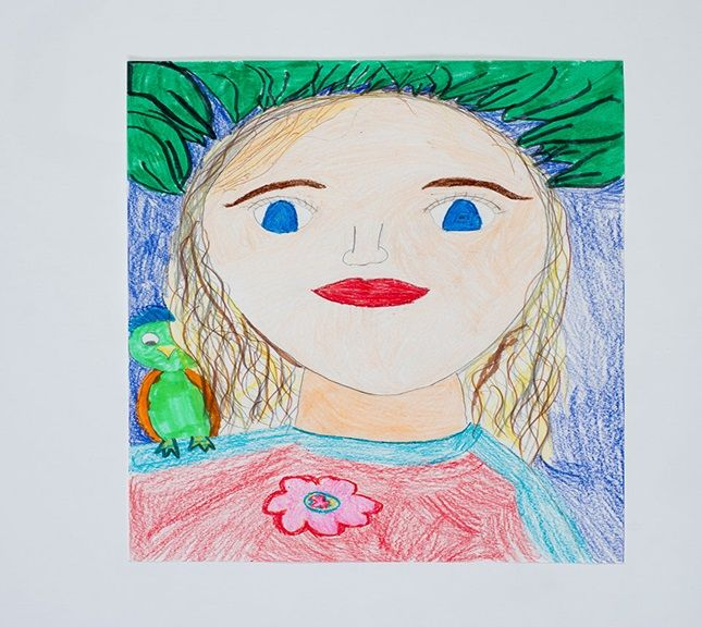 Art Lesson w/ Ms. Jennifer: Self-Portraits in the style of Frida Kahlo