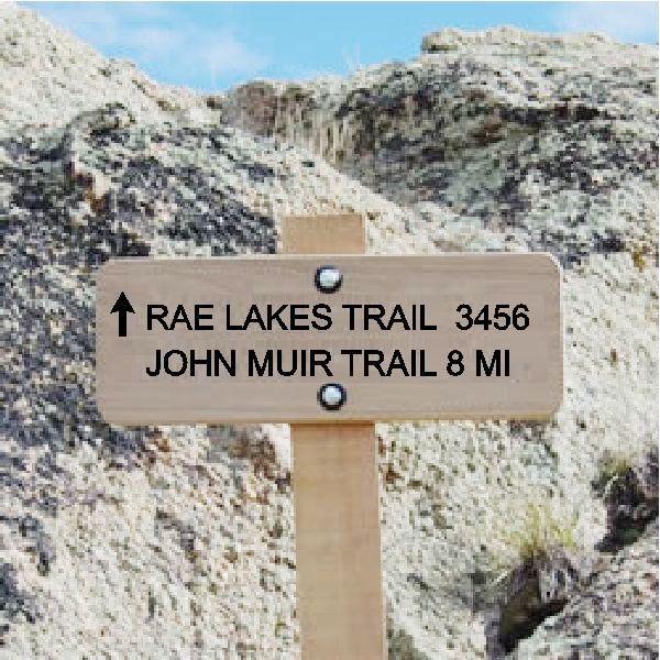 G16106 - Cedar Trail Sign for Lake Trail and John Muir Trail