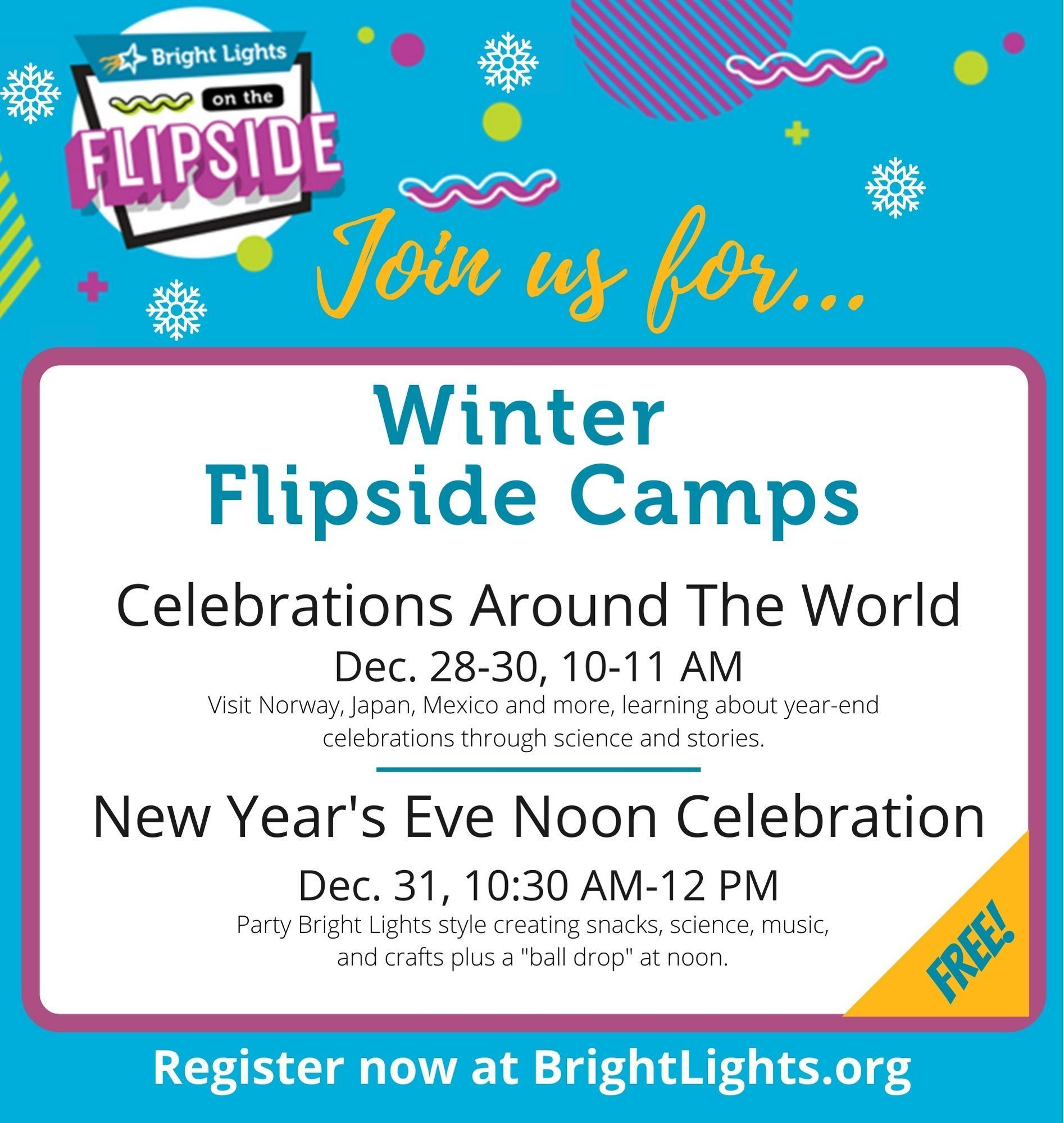 Announcing: Winter Flipside Camps!