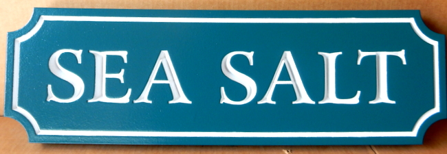 "L21872 - Carved Quarterboard Beach House Sign ""Sea Salt"""