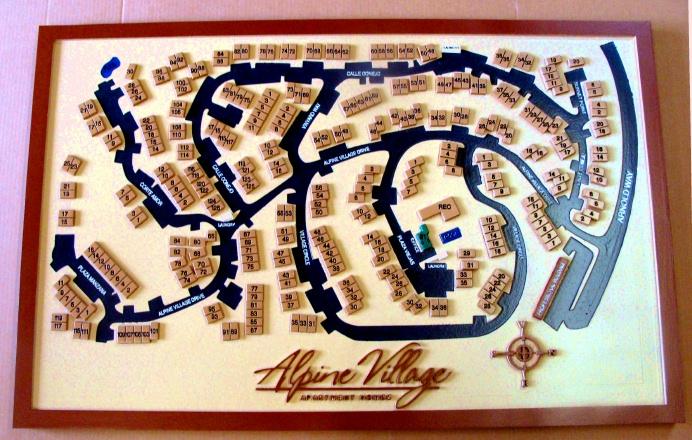 KA20786 - Close-Up of Sign KA20785, Apartment Complex Street Map Sign